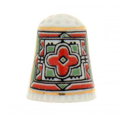 Dé en porcelaine, décoré à la main