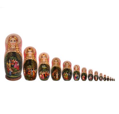 Matryoshka con 15 pezzi