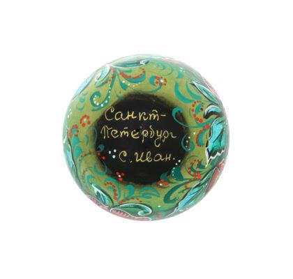 Boule en bois, peinte à la main