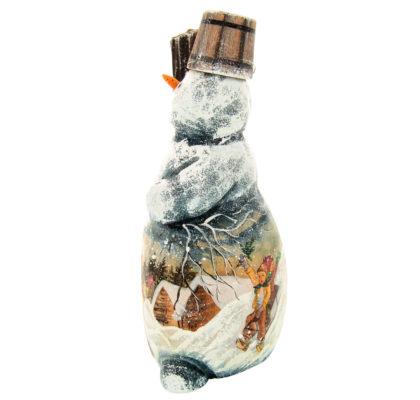 Sculpture en bois, peinte à la main