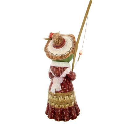 Grenouille avec une canne à pêche