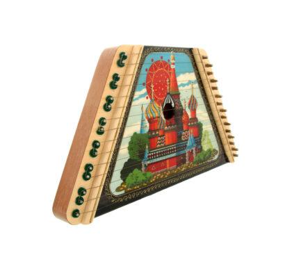 Cithare en bois, peinte à la main