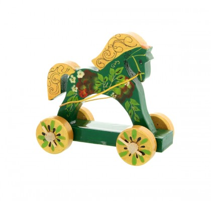 Cheval à roulettes, vert