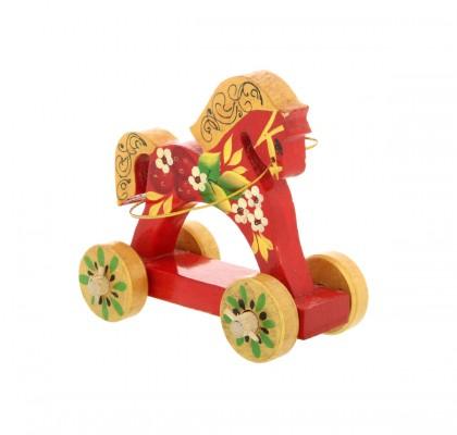 Cavallo su ruote, rosso