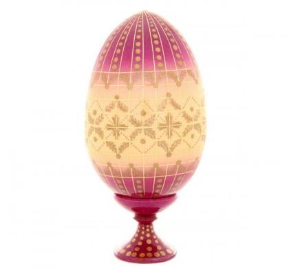 Uovo di legno, dipinto a mano
