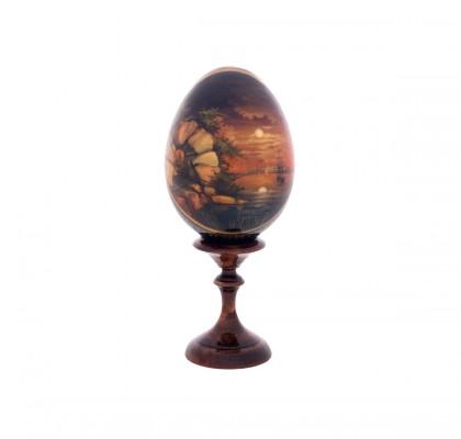 Œuf en bois, peint à la main