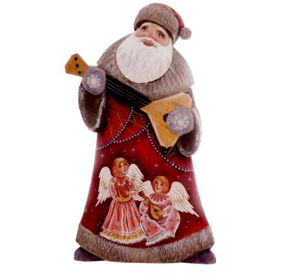 Saint Nicolas sculpté avec balalaïka
