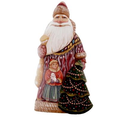 Santa Claus carrying a bag