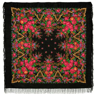 Châle russe en laine, avec des franges en laine Nom du motif: Belle Russe Créateur du motif: Irina Dadonova
