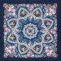 Châle russe en laine, avec des franges en soie Nom du motif: Réveil du Printemps Créateur du motif: Ioulia Outkina