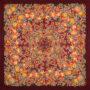 Châle russe en laine, avec des franges en soie Nom du motif: Soleil Trompeur Créateur du motif: Elena Joukova