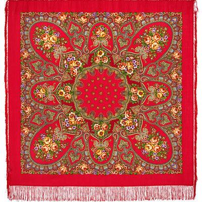 Châle en laine, avec des franges en soie. Nom du motif: Valse de Vienne. Créatrice: Irina Dadonova
