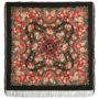 Châle en laine, avec des franges en soie. Nom du motif: Collier de Fleurs. Créatrice: Elena Jukova