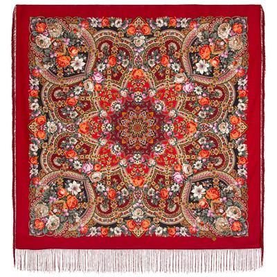 Châle en laine, avec des franges en soie. Nom du motif: Silver Creek. Créatrice: Julia Utkina