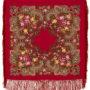 Châle en laine, avec des franges en soie. Nom du motif: Etranger. Créatrice du motif: Nataliya Belokur