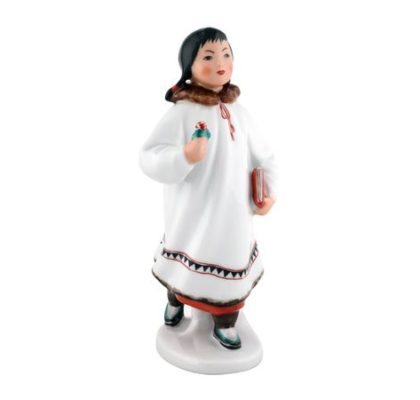 Sculpture Yakut girl with flower