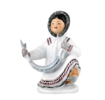 Sculpture Yakut girl with fish