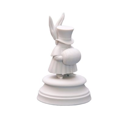 Sculpture Seventh guest White bisquite