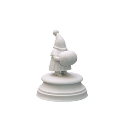 Sculpture Ninth guest White bisquite