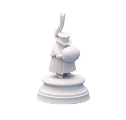 Sculpture Eleven guest White bisquite