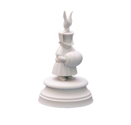 Sculpture Twelth guest White bisquite