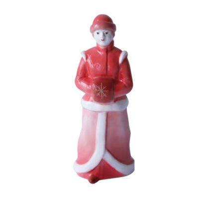 Sculpture Snow girl Red nose