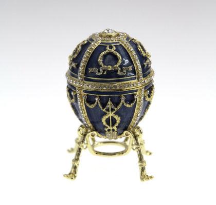 Oeuf Bouton de Rose impérial, émail bleu clair, vers 1895