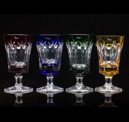 Lot de 4 verres à pied Grand Palais en cristal pour la Vodka