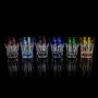 Lot de 6 shots colorés en cristal Grand Palais à Vodka