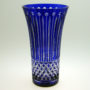 Vase bleu cobalt Xénia en cristal