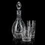 Lot de 6 verres en cristal High Ball avec de l'or gravé, bijoux et émail