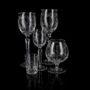 Lot de 6 verres en cristal Brandy Inhaler avec de l'or gravé, bijoux et émail